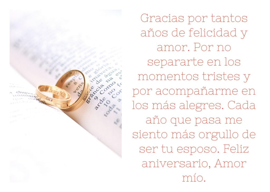 Agradecimiento de aniversario de matrimonio 2020