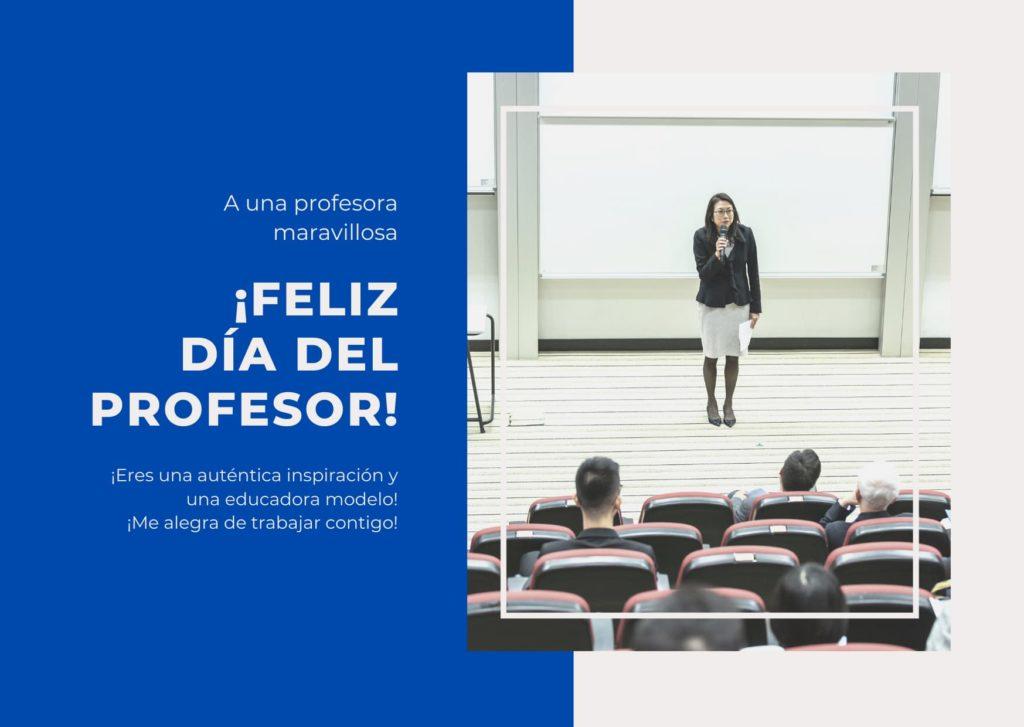 Día del Profesor dia de la profesora 2020