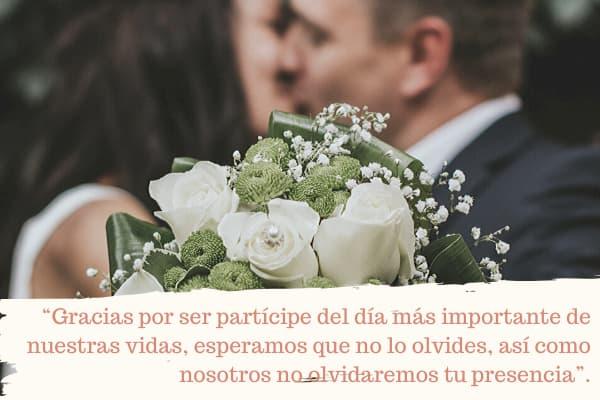 Palabras de agradecimiento de boda 2020