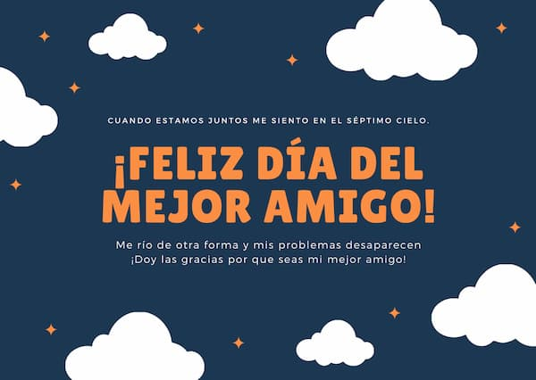 Tarjeta Feliz Día del Mejor Amigo 2020