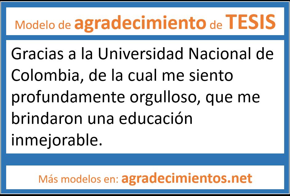 dedicatoria o agradecimientos de tesis a la universidad