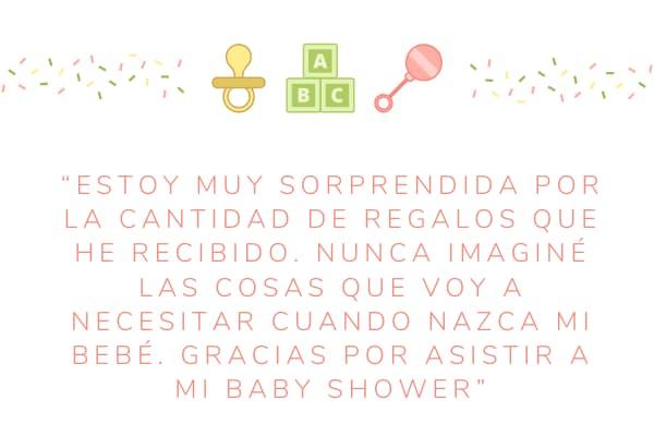 Descargar agradecimientos bonitos por Baby Shower