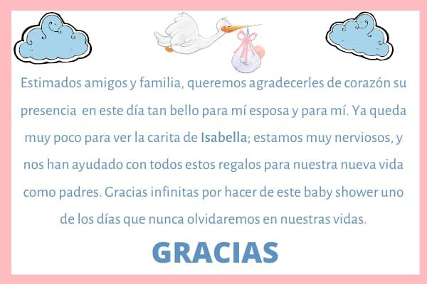 Frases de agradecimiento en baby shower 2020 palabras de gratitud por baby shower a familiares y amigos