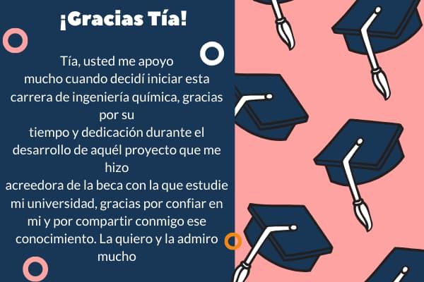 Palabras de agradecimiento de graduación a mi TIA o TIO