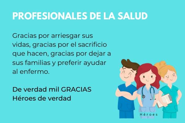 agradecimientos a los profesionales de la salud medicos, enfermeras personal de seo seguridad 2020