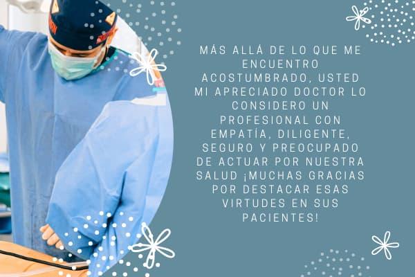 carta de agradecimiento de un paciente a un doctor 2020