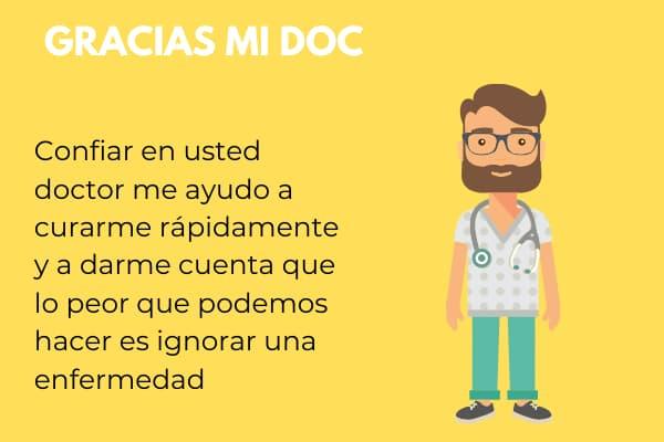 carta de agradecimiento de un paciente a un doctor
