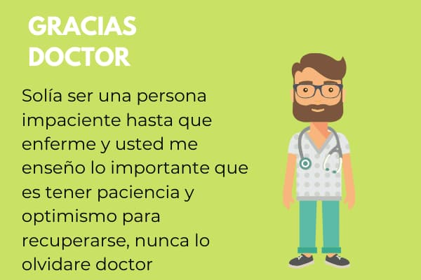 frases bonitas para mi médico