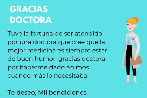 tarjetas de agradecimiento para una medico