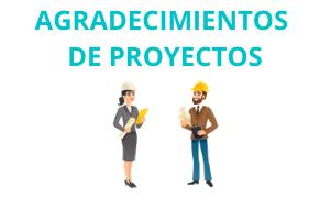 Ejemplo de Agradecimientos de proyectos